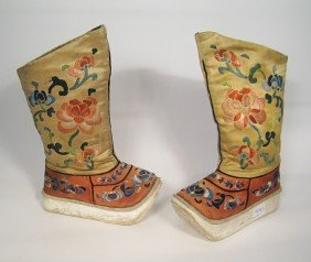 Pair Of Embroidered Boots.