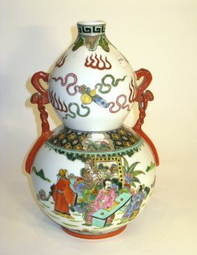 Double Gourd Wucai Porcelain