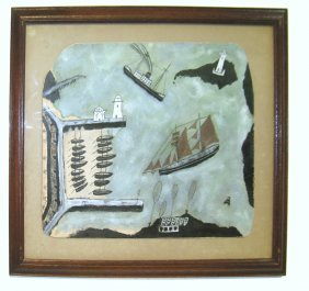 Harbor With Boats Painting, Max Wildman