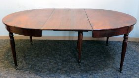 American 19th Century Round Banquet Table