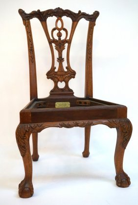 Carved Chippendale Style Child's Chair