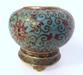 19th Century Cloisonne Brush Washer