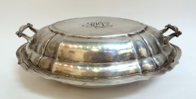 Gorham Chippendale Style Vegetable Dish With Lid