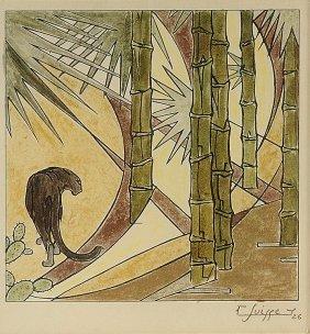GASTON SUISSE (1896-1988) Wood Engraving On Japanes