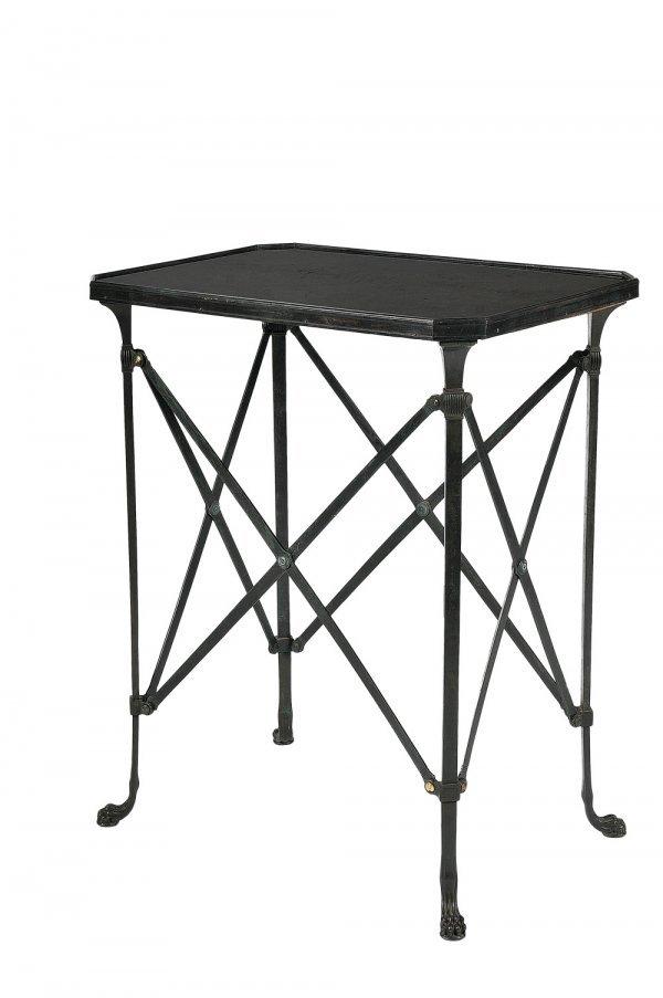 138 maison jansen table desserte rectangulaire en bron. Black Bedroom Furniture Sets. Home Design Ideas