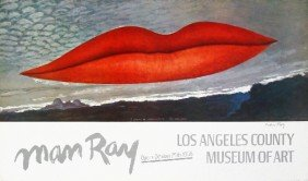 Signed 1966 Man Ray Lips Poster