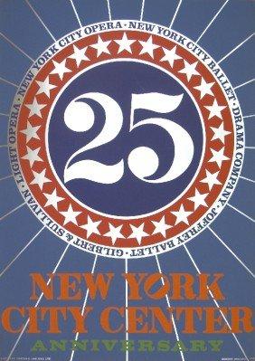 1968 Indiana New York City Center Mixed Media