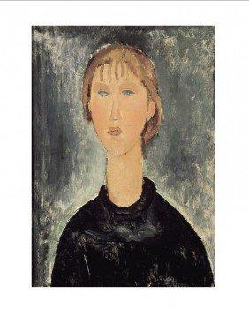 Modigliani Jeune Fille Blonde En Buste Print