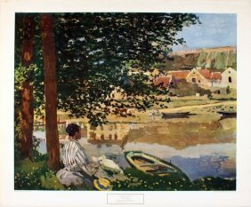 Monet The River Poster