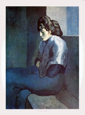 Picasso Melancholy Woman Poster