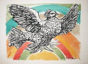 1974 Picasso La Colombe A L'Arc-En-Ciel Litho