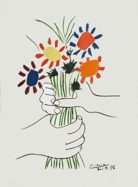 1974 Picasso Le Bouquet, 1958 Lithograph