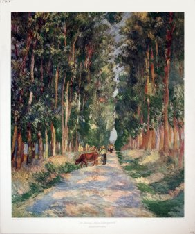Renoir La Grand Allee Varangeville Poster