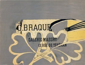 Braque Galerie Maeght Lithograph