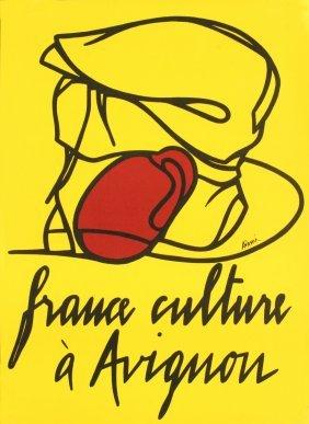 1977 Adami France Culture A Avignon Lithograph