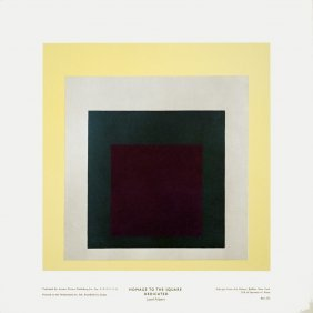 Albers Homage To The Square Dedicated Poster