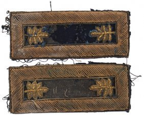 Civil War Infantry Major Shoulder Straps