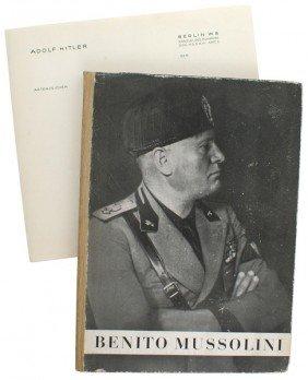 Adolf Hitler Library Book BENITO MUSSOLINI