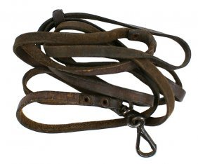 German WWII P-38 Leather Lanyard