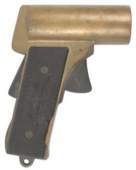 U.S. WWII Brass Pyrotechnic Pistol American