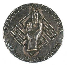 German WWII GAU 1934 Loyalty Day Badge