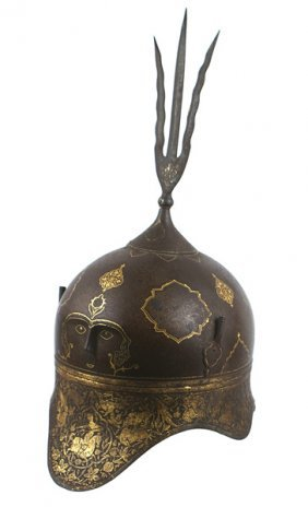 Unusual Indo-Persian Helmet