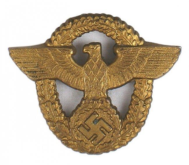 German WWII Harbor Police Cap Badge : Lot 476