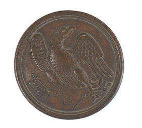 Civil War Brass Eagle Belt Plate Buckle