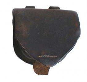 Civil War Leather Cap Box