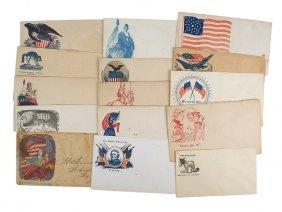 Lot Of 15 Civil War Patriotic Covers