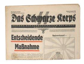 Das Schwarze Korps Official Ss Newspaper