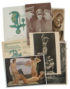 Lot Of 11 Third Reich Postcards
