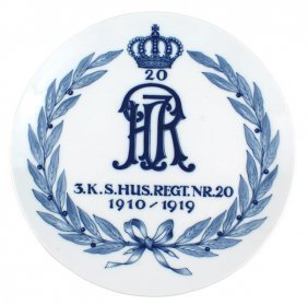 Meissen Saxon Hussar Commemorative Plate