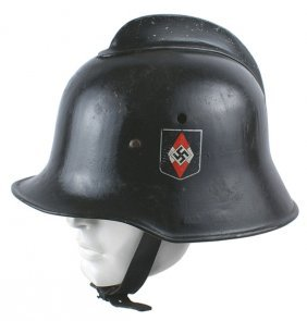 German Wwii Fire Department Helmet