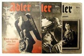 Lot Of 3 Luftwaffe Pictorial Der Adler