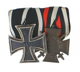 German Wwi Medal Bar Iron Cross