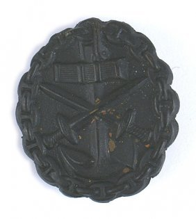 German Wwi Black Navy Wound Badge