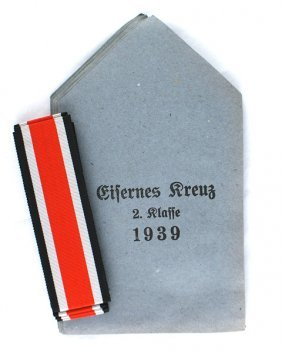Lot 5 German Wwii Iron Cross Envelopes