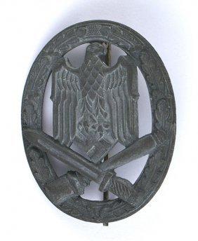 German Wwii General Assault Badge Silver