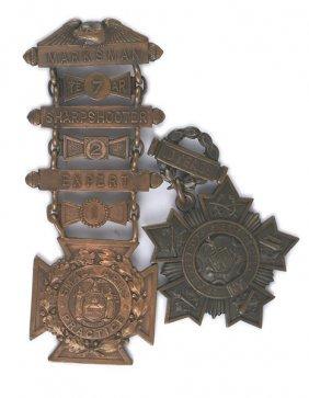 Lot Of 2 U.s. Tiffany New York Medals