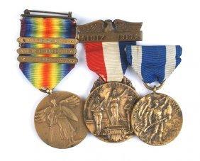 U.s. Wwi Doughboy Medal Lot Victory Etc