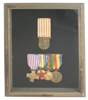French Wwi Era Medals Victory Etc