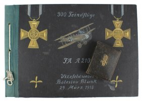 Cased German Wwi Golden Merit Cross Album