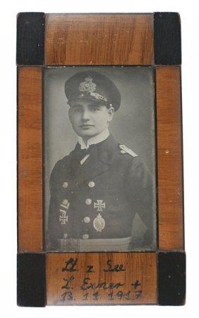 Original German Wwi Photo Exner Desk Frame