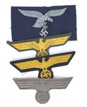 Lot Of 4 German Wwii Embroidered Eagles