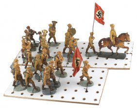 German Wwii Sa Elastolin Toy Soldiers