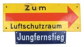 German Wwii Air Raid Shelter Signs