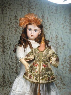 LARGE FRENCH BISQUE BEBE BY JUMEAU. Marks: 1907