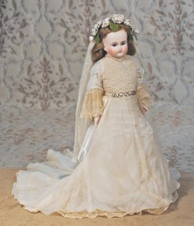 GERMAN BISQUE CLOSED-MOUTH DOLL BY ALT, BECK & G