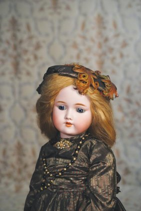 GERMAN BISQUE DOLL BY C.M. BERGMANN. Marks: C.